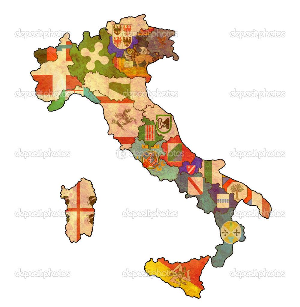 Karta Italien Regioner.Karta Over Italien Stockfotografi C Michal812 21175579
