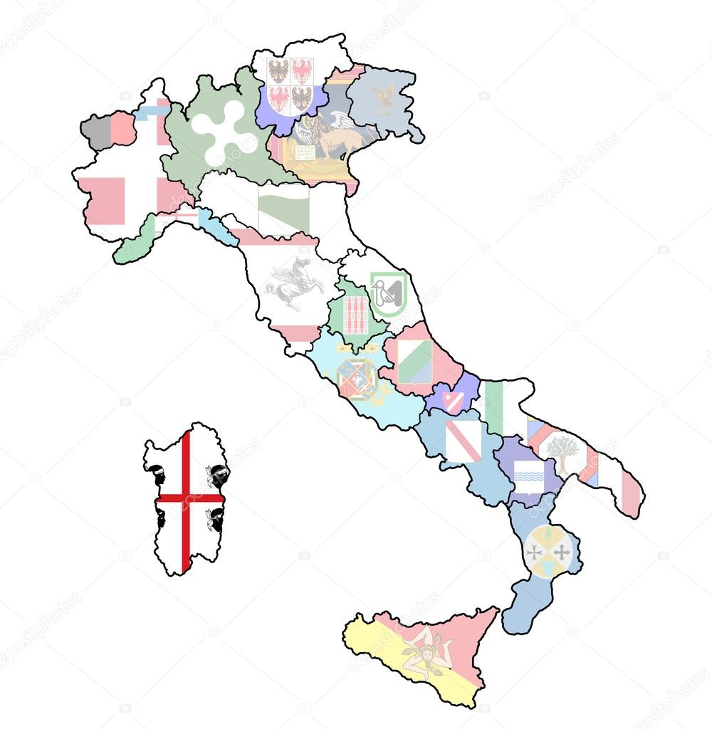 Map Of Italy With Sardinia Region Stock Photo C Michal812 21175673