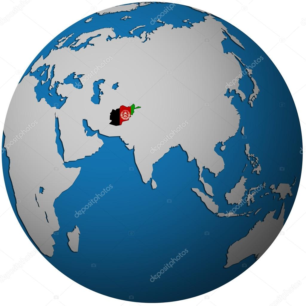 afghanistan on globe map — Stock Photo © michal812 #25716009