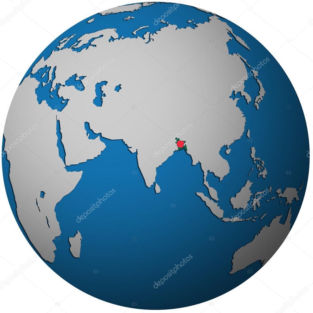 Bangladesh on globe map stock photo michal812 25716181 bangladesh on globe map stock photo gumiabroncs Gallery