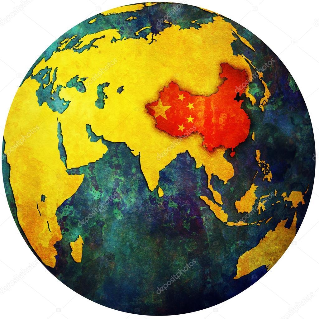 Globus Karte.China Auf Globus Karte Stockfoto C Michal812 25716329