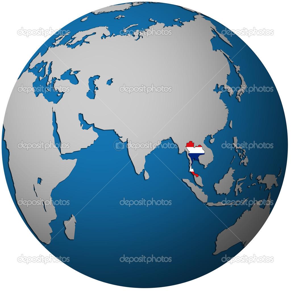 thailand on globe map — Stock Photo © michal812 #25717515