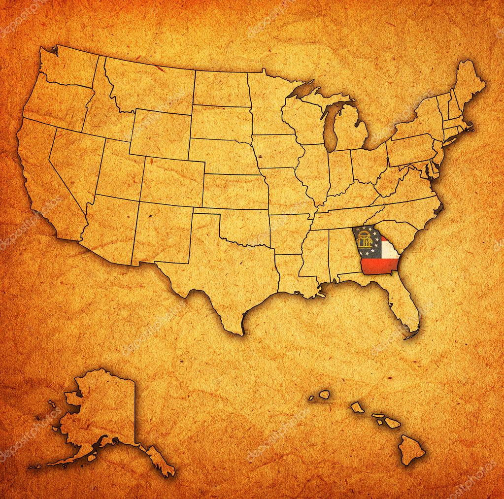 Georgia On Map Of Usa Stock Photo Michal - Georgia on usa map