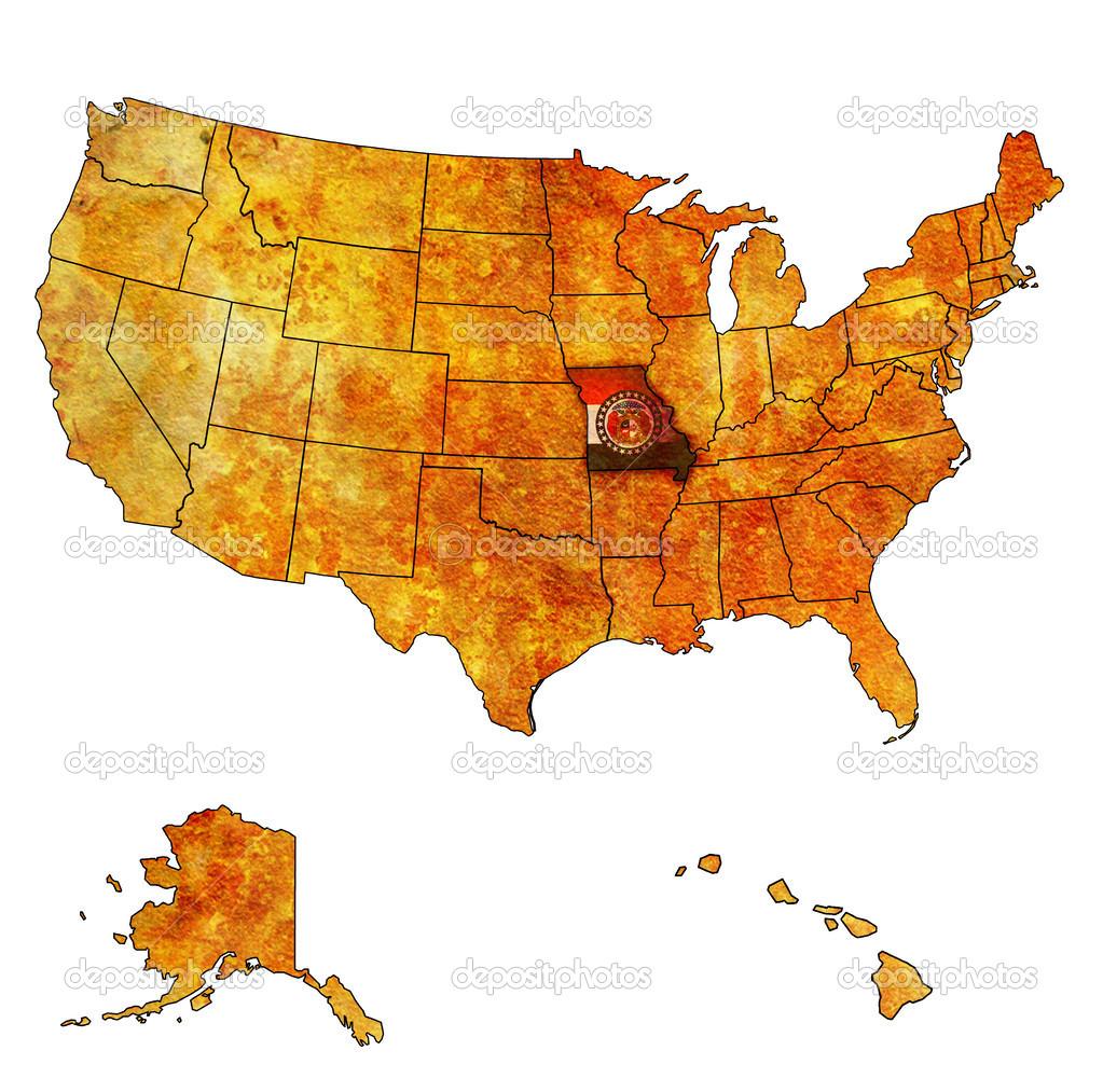 Missouri on map of usa Stock Photo michal812 30954497