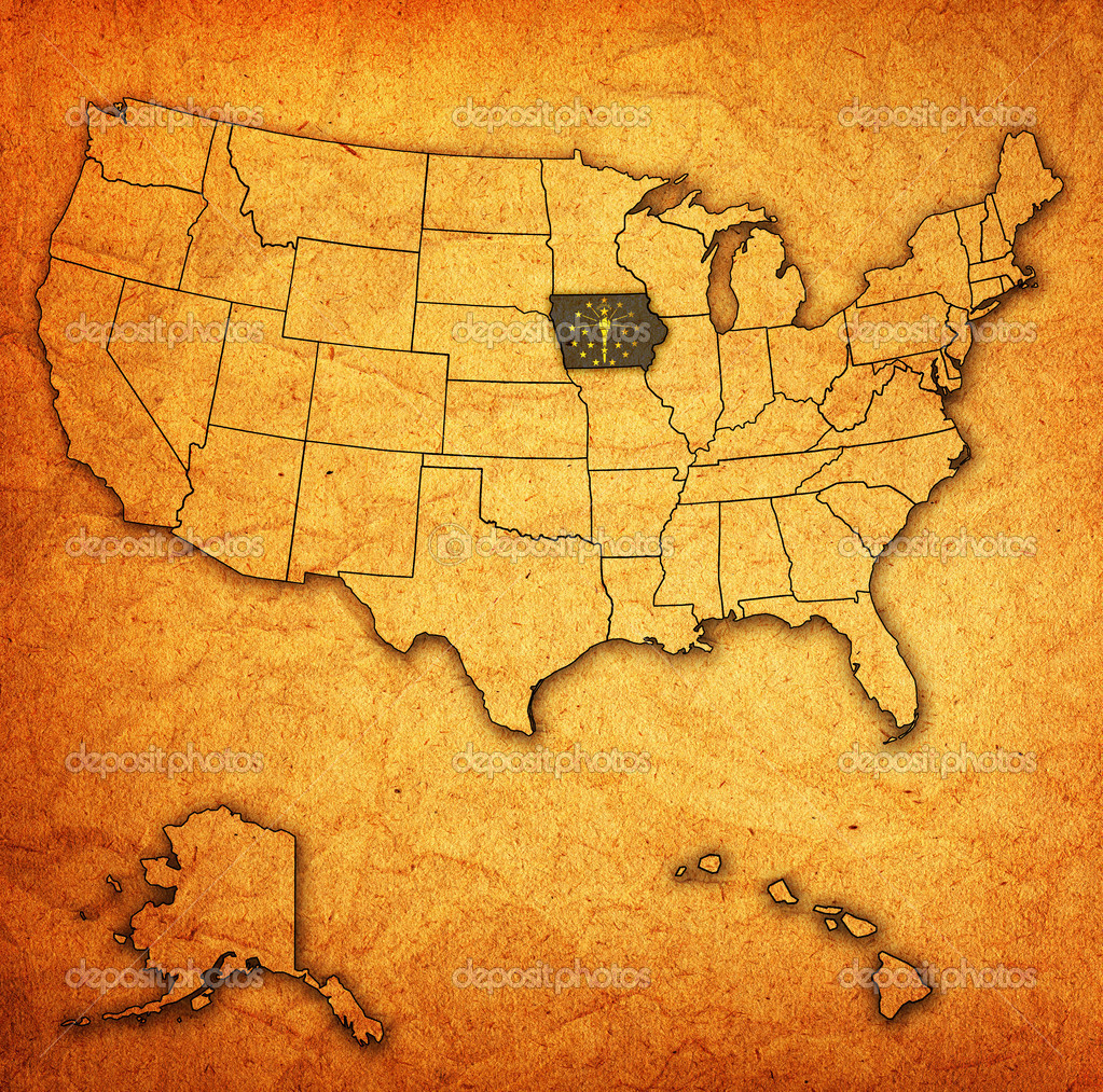 Indiana On Map Of Usa Stock Photo Michal - Indiana on map of usa