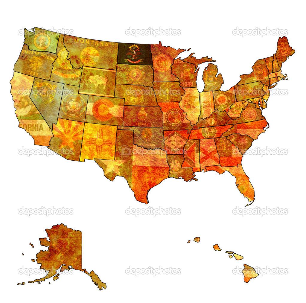 north dakota on map of usa — Stock Photo © michal812 #31235573