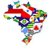 adminisztráció, Térkép Brazília