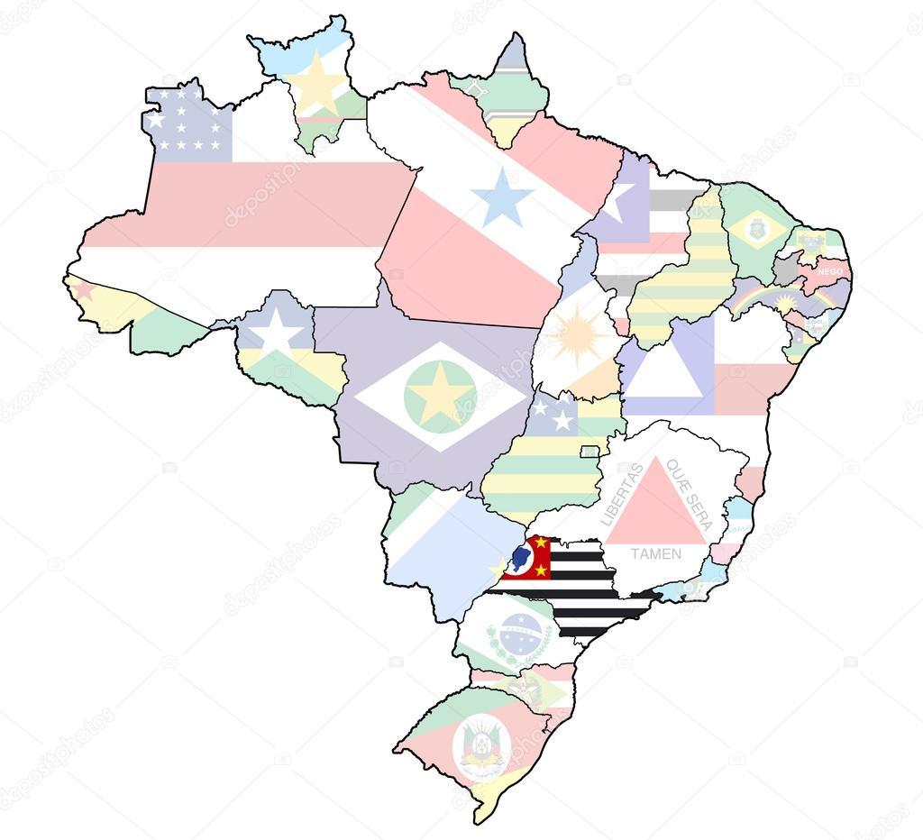 Sao Paulo State Map.Sao Paulo State On Map Of Brazil Stock Photo C Michal812 41100555