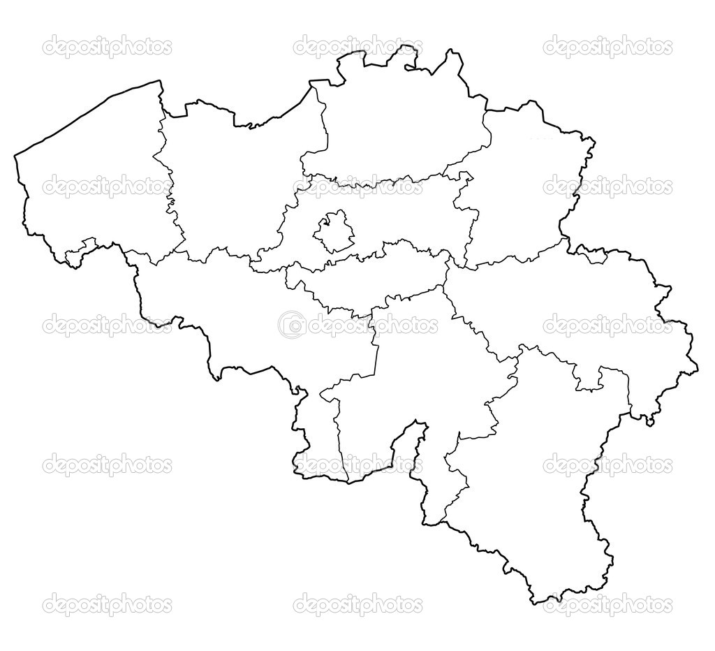 provinces on map of belgium Stock Photo michal812 45423883