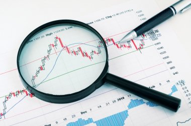 Analyzing the stock market. Concept stock vector