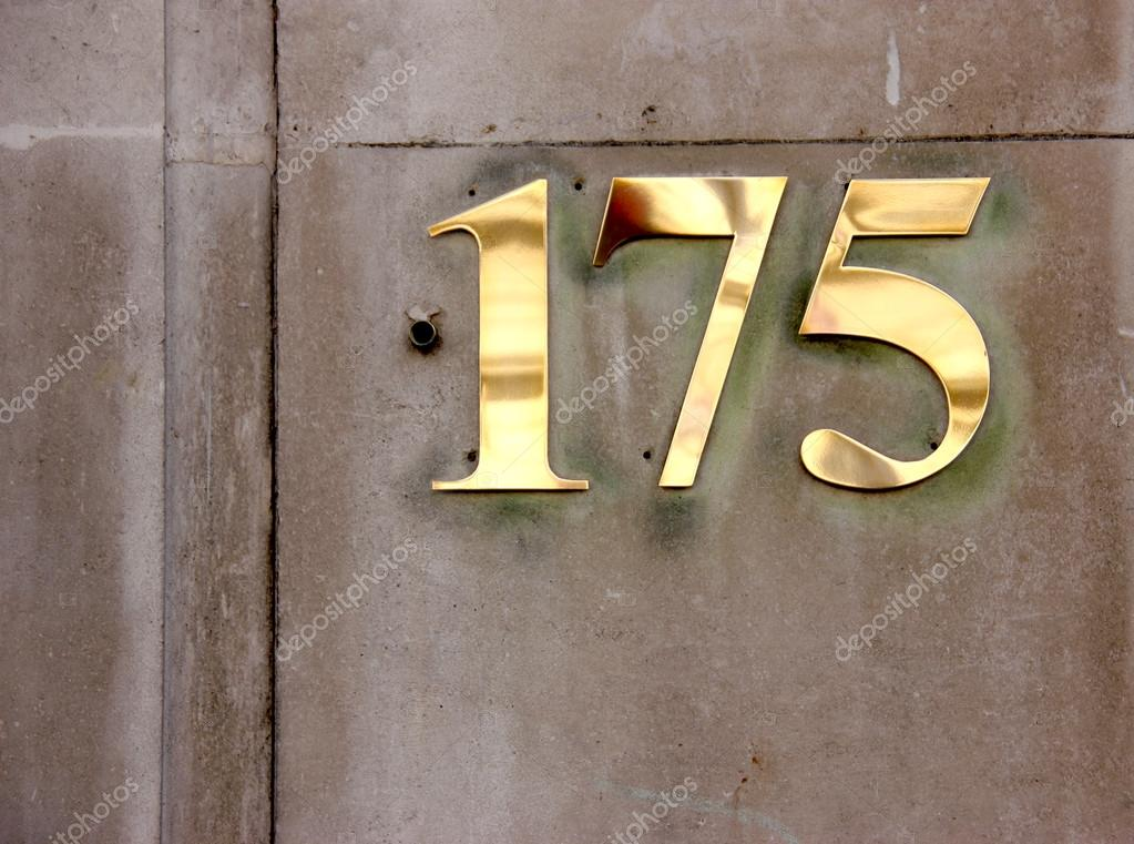 Business or Residential address number one seven five \u2014 Photo by jahina & Door Number 175 \u2014 Stock Photo © jahina #16164385
