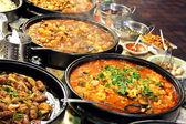 Marktstand kochte Lebensmittel zum Mitnehmen Restaurant