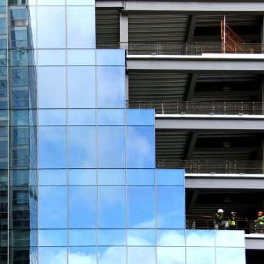 Glass and Steel Building structures