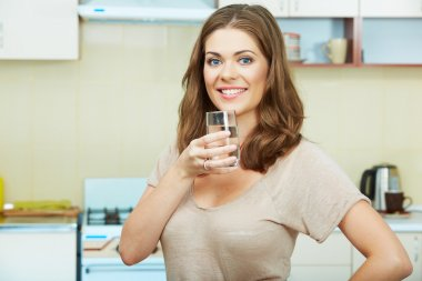Woman with water glass
