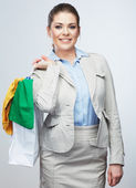 Photo Business woman hold shopping bag