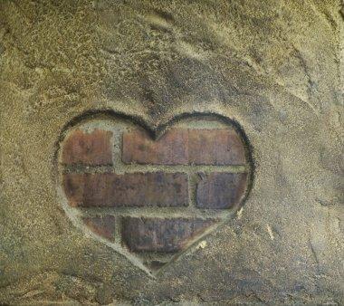 Shape of heart on kiln