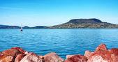 pohled do badacsony u jezera balaton, Maďarsko
