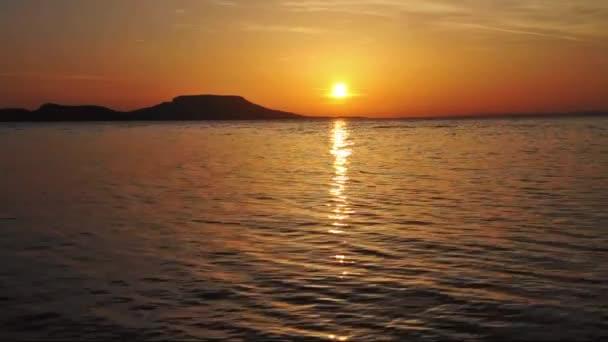Sunrise táj: Balaton, Magyarország