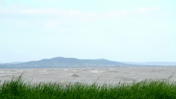 a Balatonnál viharos szél, Magyarország