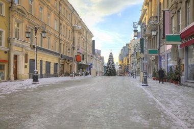 Moscow. New-year street