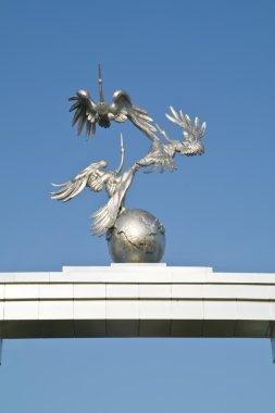 Storks. Symbol of peaceful politics of republic of Uzbekistan