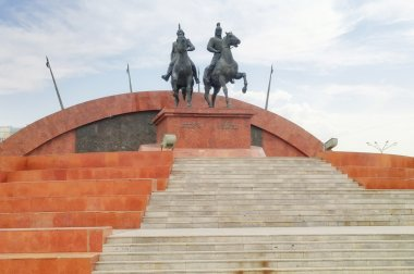Sculptural composition in honor of the heroes of the Kazakhstan