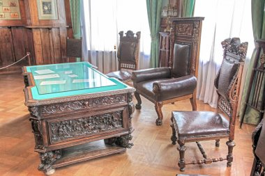Interior of the Livadia Palace. Cabinet
