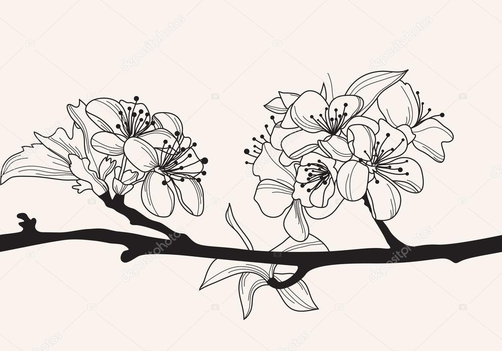 decorative cherry blossom