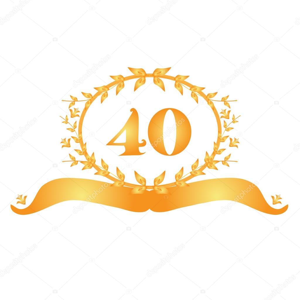 40 Jahriges Jubilaum Banner Stockvektor C Chantall 39174519