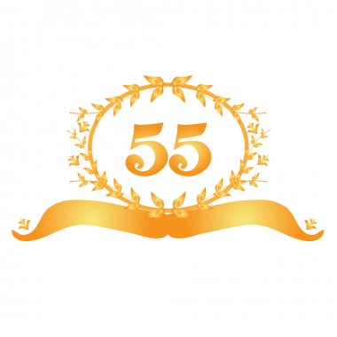 55th anniversary banner