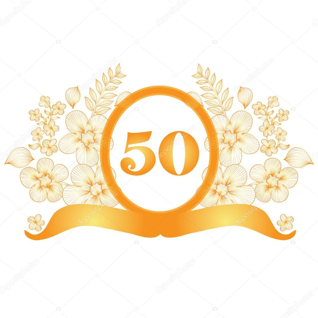 50th anniversary banner stock vector chantall 40313575 - Mis 50 anos ...