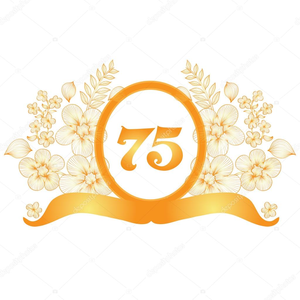 75th Anniversary Banner Stock Vector Chantall 40313639