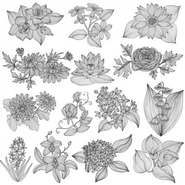 Floral decorations set