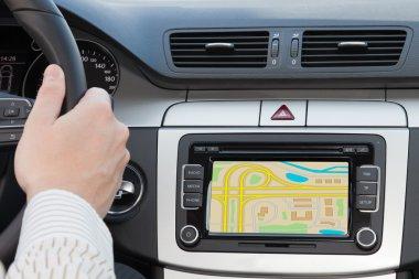GPS navagation in luxury car
