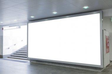 Blank billboard in hall