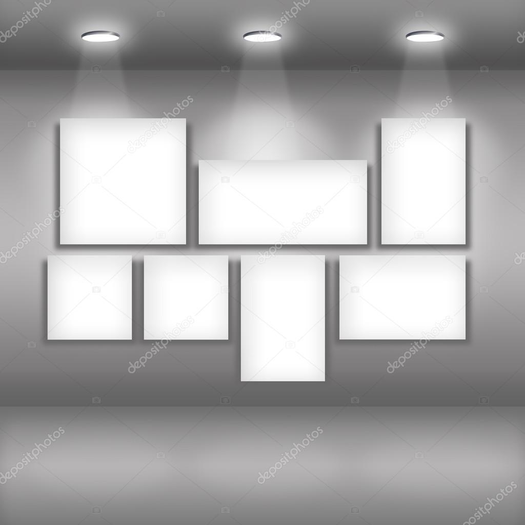 Spotlights in gallery interior
