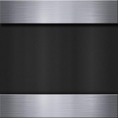 Aluminum metal plate and carbon fibre