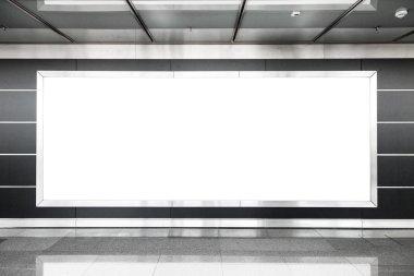 Blank billboard in modern interior