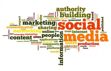 Social media concept in tag cloud