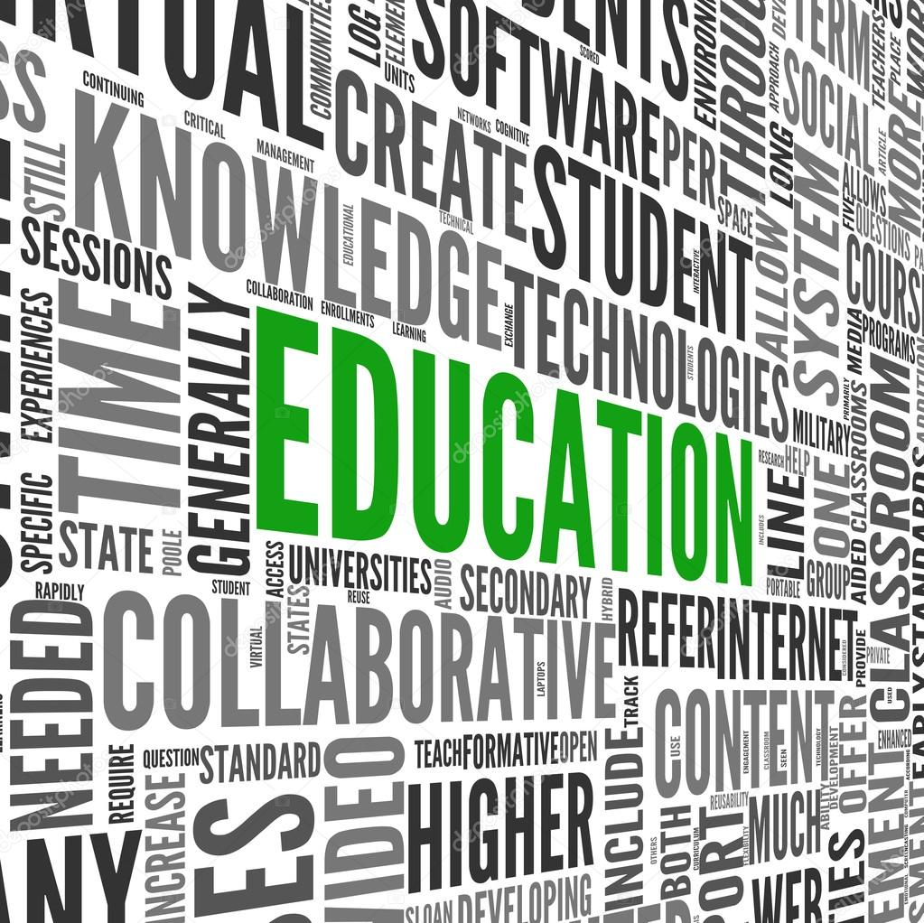 Education and learning concept words in tag cloud