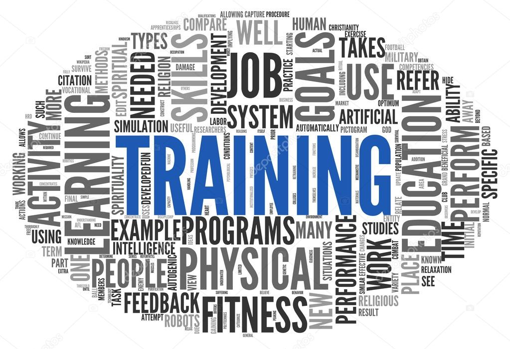 training and education related words concept stock photo