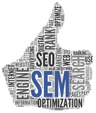 Search engine marketing SEM concept