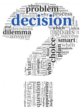 Decision concept in tag cloud