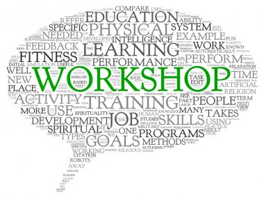Workshop and learning related words concept