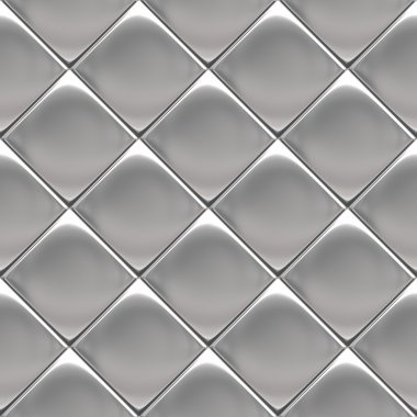 Metal silver checked pattern