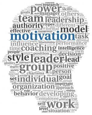Motivation concept in word tag cloud