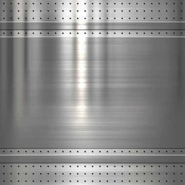 Metal plate on metal mesh background or texture stock vector