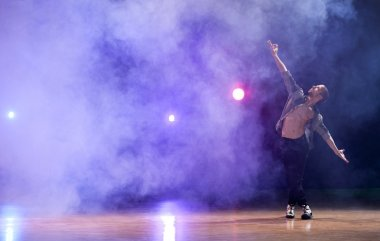 Man performing a contemporary dance
