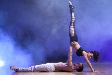 Sensual couple contemporary dancers