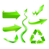 sada ikon zelená šipka